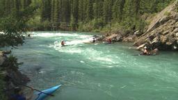 HD2009-7-13-1 kayak river Footage