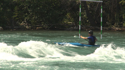 HD2009-7-13-3 kayak river Stock Video Footage
