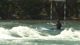 HD2009-7-13-3 kayak river Stock Video Footage