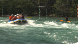 HD2009-7-13-5 whietwater raft river Stock Video Footage