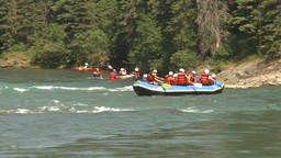 HD2009-7-13-7 whitewater raft river Stock Video Footage