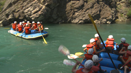 HD2009-7-13-9 whitewater raft river Stock Video Footage