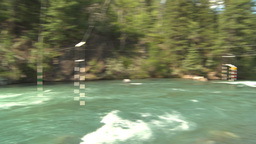 HD2009-7-13-15 whitewater raft course on river montage Footage