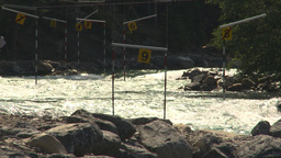 HD2009-7-13-15 whitewater raft course on river montage Stock Video Footage