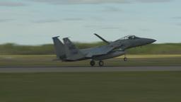 HD2009-6-1-3 F15 Eagle landing Stock Video Footage