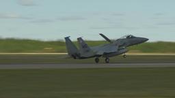 HD2009-6-1-3 F15 Eagle landing Footage