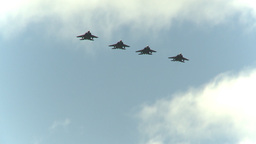 HD2009-6-1-5 F15 Eagle formation fly Footage