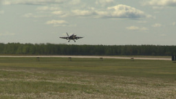 HD2009-6-1-7 F18 hornet landing Stock Video Footage