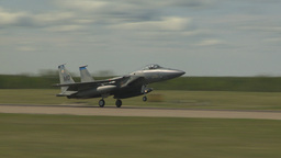 HD2009-6-1-13 F15 Eagle landing Stock Video Footage