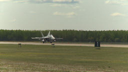 HD2009-6-1-15 F18 hornet at runway wait Stock Video Footage