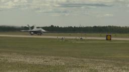 HD2009-6-1-17 F18 hornet takeoff Stock Video Footage