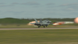 HD2009-6-1-17 F18 hornet takeoff Stock Video Footage