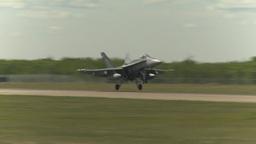 HD2009-6-1-19 F18 hornet landing Footage