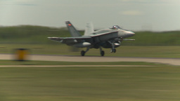 HD2009-6-1-19 F18 hornet landing Stock Video Footage