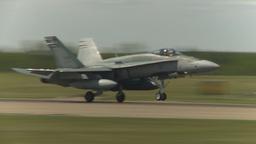 HD2009-6-1-19 F18 hornet landing Stock Video Footage