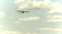 HD2009-6-1-21 C130 Herc on approach Stock Video Footage