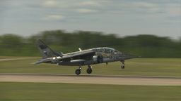 HD2009-6-1-25 slomo Alphajet landing Stock Video Footage