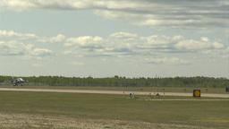HD2009-6-1-27 slomo Alphajet landing Stock Video Footage