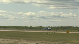 HD2009-6-1-27 slomo Alphajet landing Stock Video Footage
