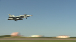 HD2009-6-2-2 F18 Hornet takeoff Stock Video Footage