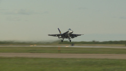 HD2009-6-2-16 F18 Hornet takeoff Stock Video Footage