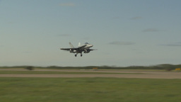 HD2009-6-2-18 F18 Hornet takeoff Stock Video Footage