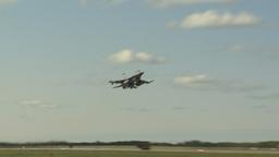 HD2009-6-2-35 F16 Falcon takeoff Stock Video Footage