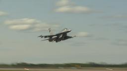 HD2009-6-2-41 F16 Falcon takeoff Stock Video Footage