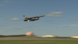 HD2009-6-2-41 F16 Falcon takeoff Stock Video Footage