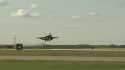 HD2009-6-2-43 F16 Falcon takeoff Stock Video Footage