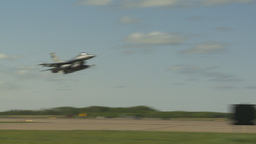 HD2009-6-2-43 F16 Falcon takeoff Stock Video Footage