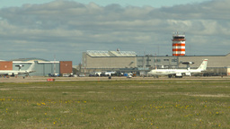 HD2009-6-2-49 apron E3a ATC hangars Stock Video Footage