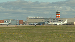 HD2009-6-2-49 apron E3a ATC hangars Stock Video Footage