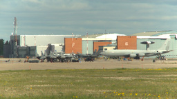 HD2009-6-2-50b apron E3a F15s hangars Stock Video Footage