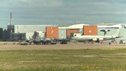 HD2009-6-2-50b apron E3a F15s hangars Stock Video Footage