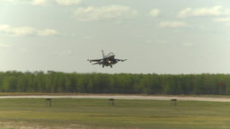 HD2009-6-2-52 F16 Falcon landing Footage