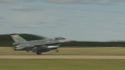 HD2009-6-2-52 F16 Falcon landing Stock Video Footage