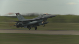 HD2009-6-2-54 F16 Falcon landing Stock Video Footage