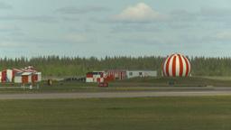 HD2009-6-2-56 F16 Falcon landing through frame Stock Video Footage