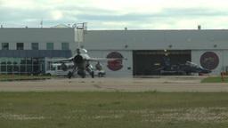 HD2009-6-2-60 F16 Falcon taxi Stock Video Footage