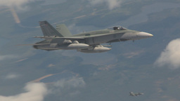 HD2009-6-3-5 aerial F18s Stock Video Footage