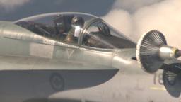 HD2009-6-3-8 aerial F18s refuel Footage