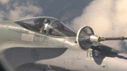 HD2009-6-3-8 aerial F18s refuel Stock Video Footage