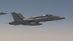 HD2009-6-3-10 aerial F18s Stock Video Footage