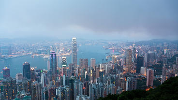 4k timelapse video of Hong Kong from day to night Footage