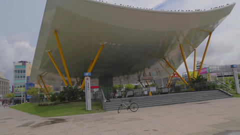 pan of the Kaohsiung Central Park Station Footage