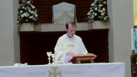 Penitential Prayer During Mass stock footage