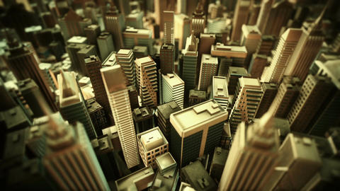 Metropolitan City. Loop Animation stock footage