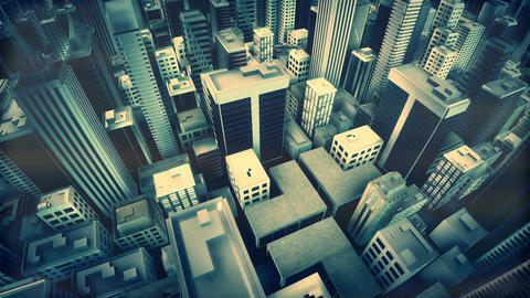 Metropolitan City. Loop animation Animation