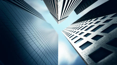 Skyscrapers On Sky Background stock footage
